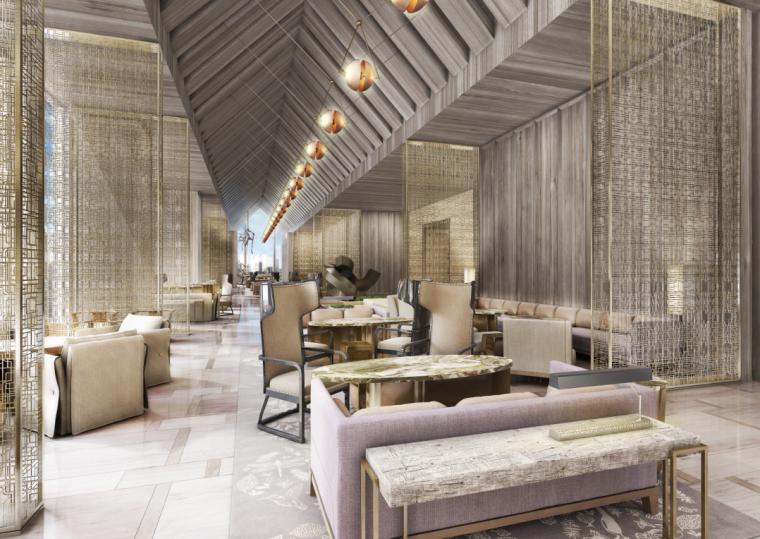 深圳平安金融中心柏悦酒店公区100%设计方案117P+客房设计方案29