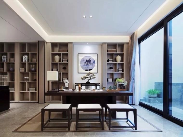 充满新中式风格的茶室