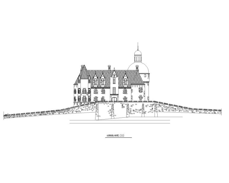 特色园林景观建筑设计施工图-古堡01-Model