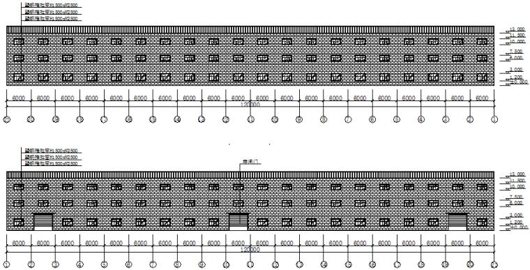 单层坡双跨厂房钢结构施工图(CAD,14张)