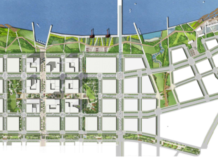 [天津]滨海新区CBD起步区总体景观方案设计(滨水,生态城市)