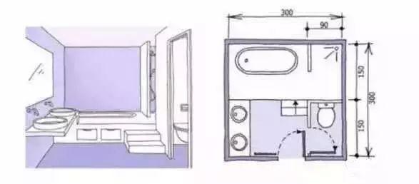 卫生间装修尺寸,精细到每一毫米的设计!_16