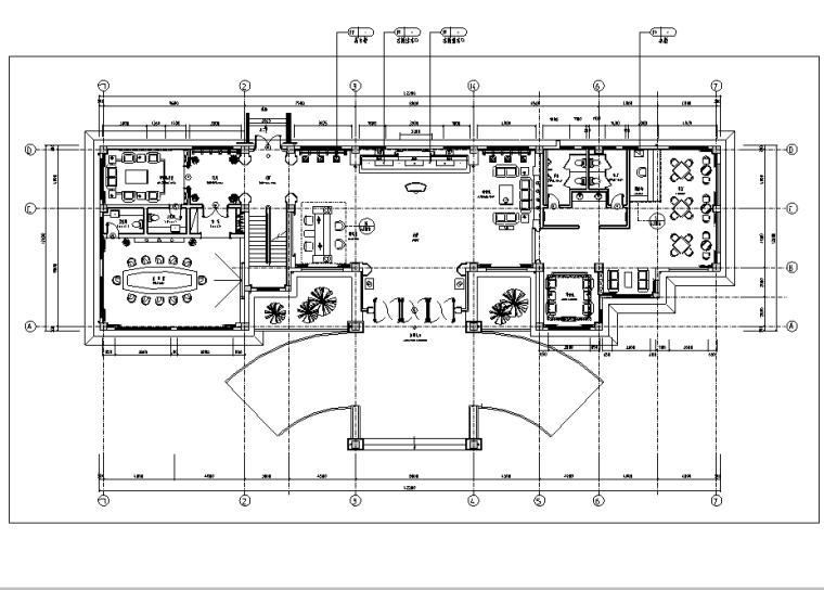 上市集团高档会所空间设计施工图(附效果图)