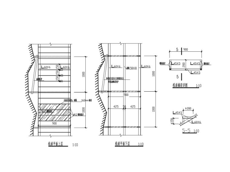 钢结构木板栈道施工图