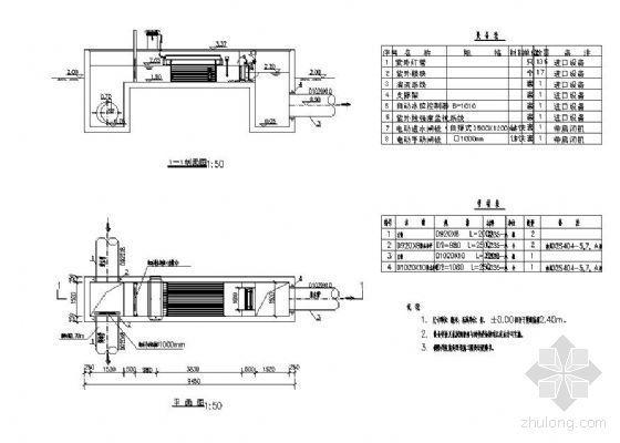 广东惠州某污水处理厂紫外线消毒渠图纸