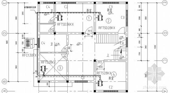 某别墅多联机空调平面图