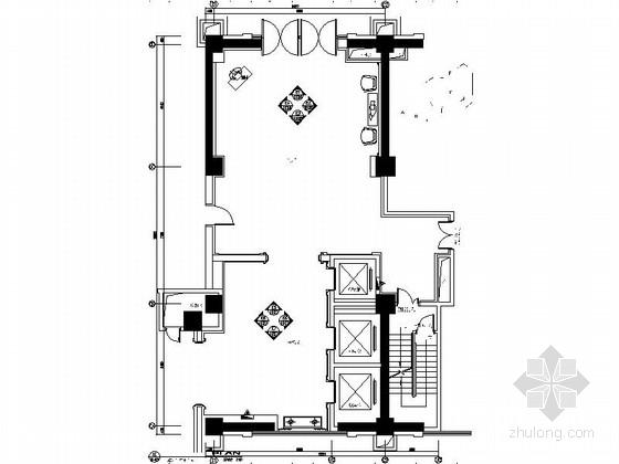 [昆山]豪华商务酒店大堂门厅装修施工图(含效果)