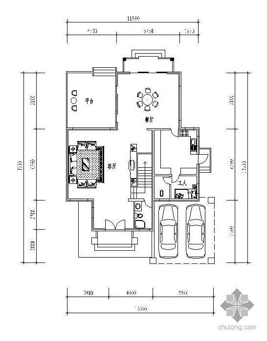 三层独栋别墅户型图(171/129/105)