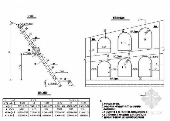 路基防护工程(窗孔式护面墙防护)节点详图设计