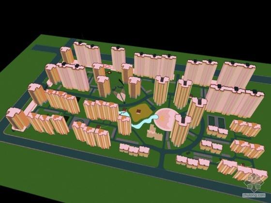 [包头]某居住小区规划设计(配CAD方案)