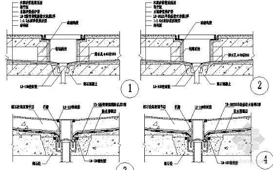 厨浴厕明沟排水口节点防水构造