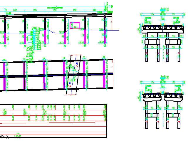 武汉预应力现浇连续箱梁设计图279张CAD