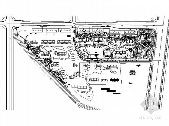 [北京]道路隔离带景观规划设计施工图