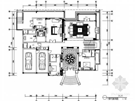 [南京]奢华欧式风格2层别墅CAD室内施工图