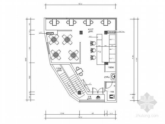 [海口]混搭风格咖啡厅装修施工图(含效果)
