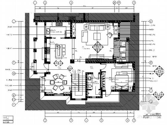 [绵阳]新中式风格双层别墅室内装修图(含效果)