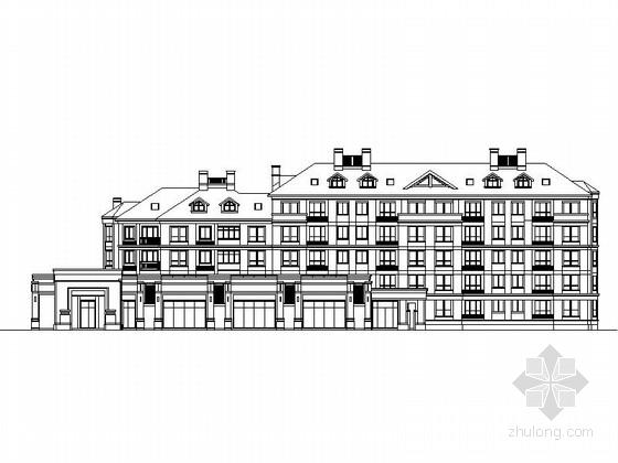 [北京]5层现代风格公寓建筑设计施工图 (国内知名地产)
