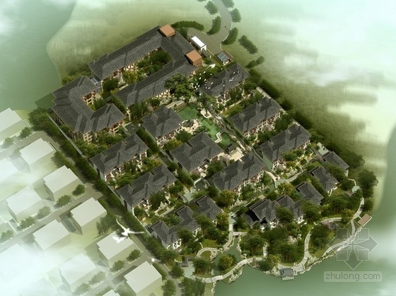 [江苏]江南豪华宜居园林式别墅区规划设计方案文本(多个方案)