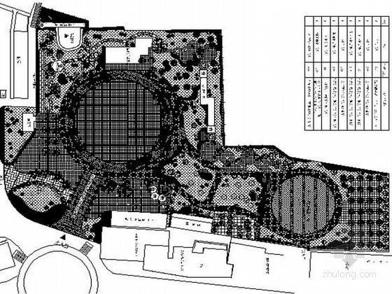 [四川]商区附近小公园景观绿化设计施工图