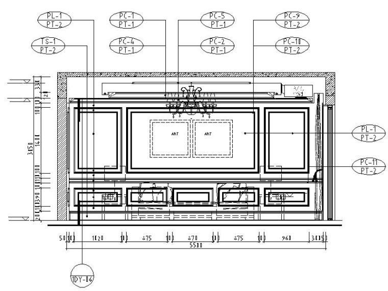 [成都]精品3层别墅样板间室内设计施工图(含效果图、材料表)_7