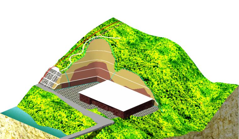 [广西]53米高边坡治理工程设计方案(岩质边坡附勘察报告)