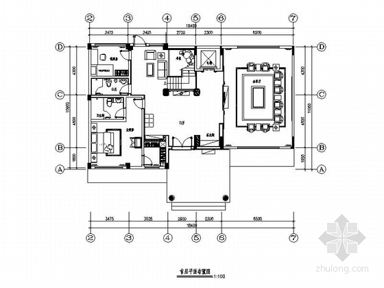 [广州]浓郁的东方美中式别墅装修施工图(含效果图)