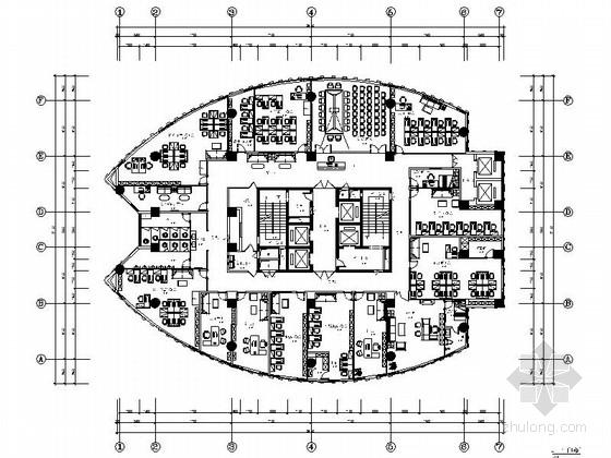 [重庆]环球酒店现代商务写字楼装修施工图