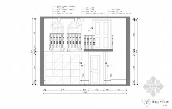 [杭州]清新淡雅美式风格别墅设计方案(含实景图)-清新淡雅美式风格别墅设计方案(含实景图)立面图