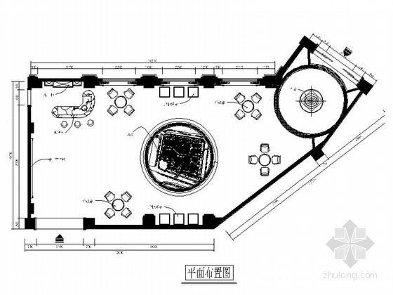 [福州]高档小区欧式风格售楼处室内装修施工图(含效果图)