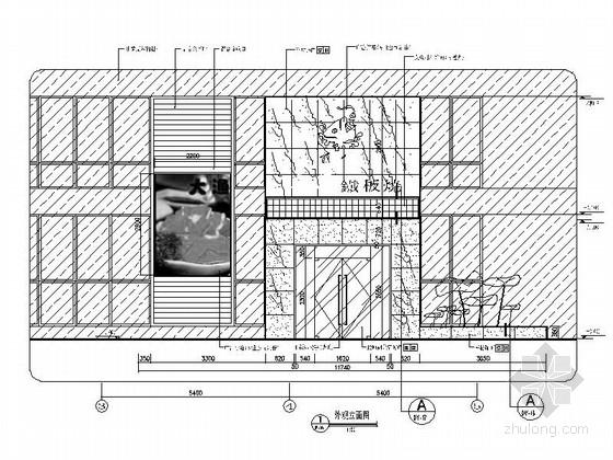 [南京]时尚铁板烧餐厅装修立面图