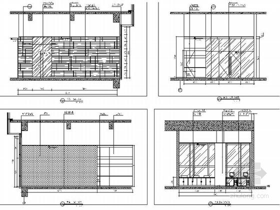 [深圳]高端商务核心区现代科技大厦室内装修图(含效果)商务中心立面图