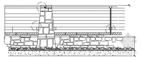 小区水景区栏杆施工图