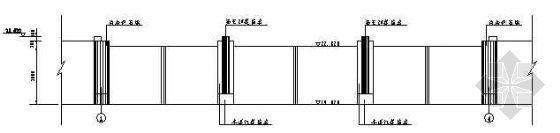 某3孔对开人字形防洪钢闸门设计图