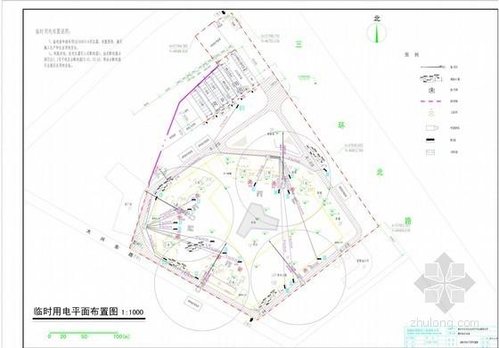 [广东]商住楼临时用水用电施工方案(临水、临电平面布置图)