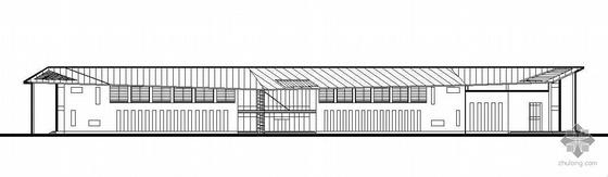 工业园体育运动中心某二层附馆建筑施工图