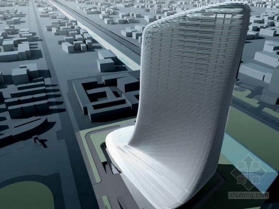 [浙江]45层服务中心办公楼设计方案文本(国内知名设计师设计)