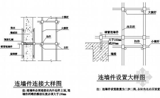[河南]商业广场工字钢外悬挑脚手架施工方案