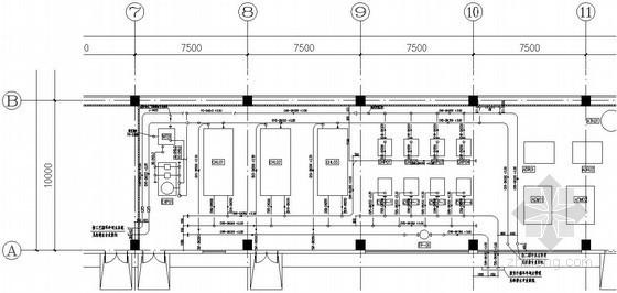 [湖南]洁净厂房气动系统设计竣工图纸(动力站,管道系统配管)图片