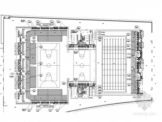 [四川]文化体育中心空调通风及防排烟系统设计施工图(大院出品)