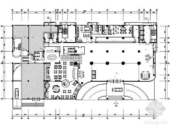 某酒店大堂平面设计图