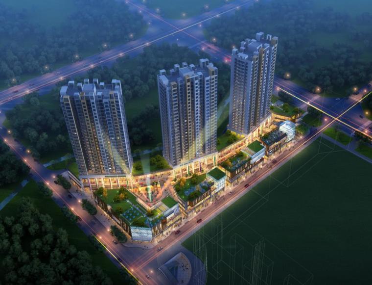 [四川]高层塔式一梯九户住宅楼建筑施工图