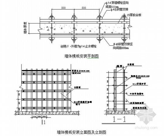 框架结构住宅楼工程地下室模板施工方案(80页)