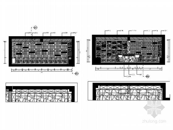 [福建]产权式时尚现代四层别墅样板房装修图藏酒室立面图