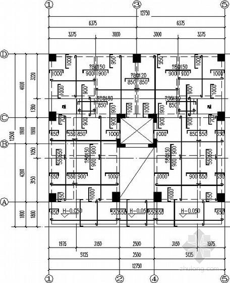 9层框架剪力墙私人住宅结构施工图