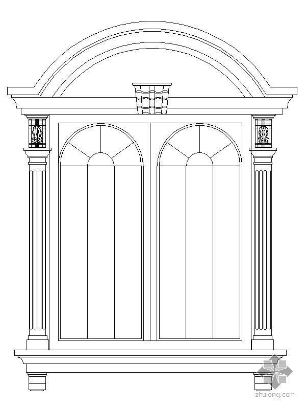 经典欧式门窗式样CAD图