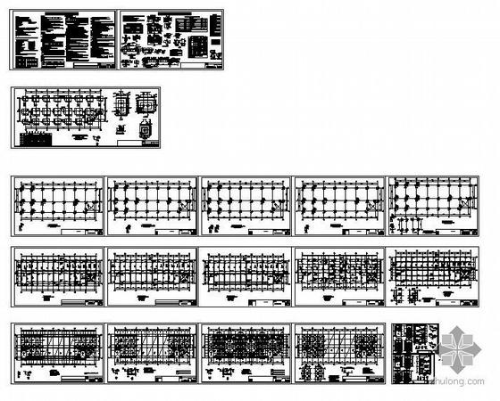 成都某鞋业五层框架厂房结构施工图