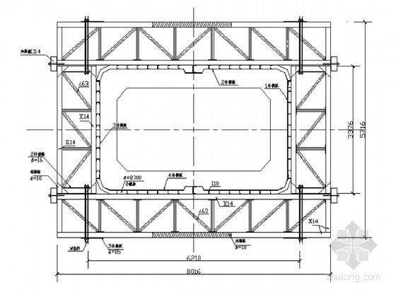 [上海]跨江大桥4.8m~15.575m高墩柱模板图(62张 知名大院)