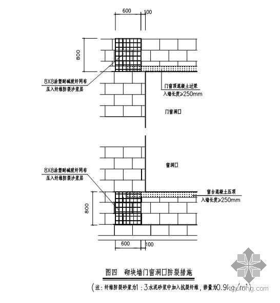 混凝土小型空心砌块墙体裂渗控制施工工法