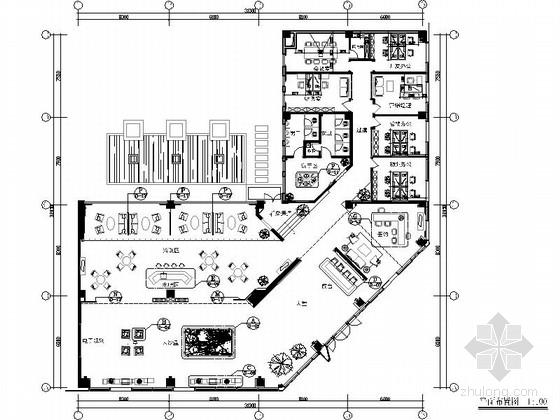 [惠州]中式风格花园小区售楼处室内装修图(含效果)