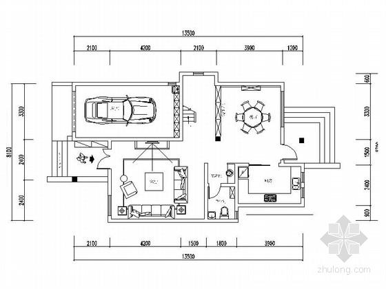 [常熟]精致简欧风情三层别墅样板间CAD装修施工图(含效果)